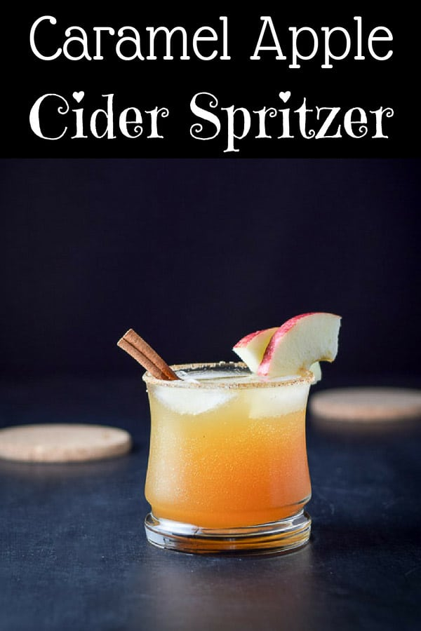 Caramel Apple Cider Spritzer for Pinterest