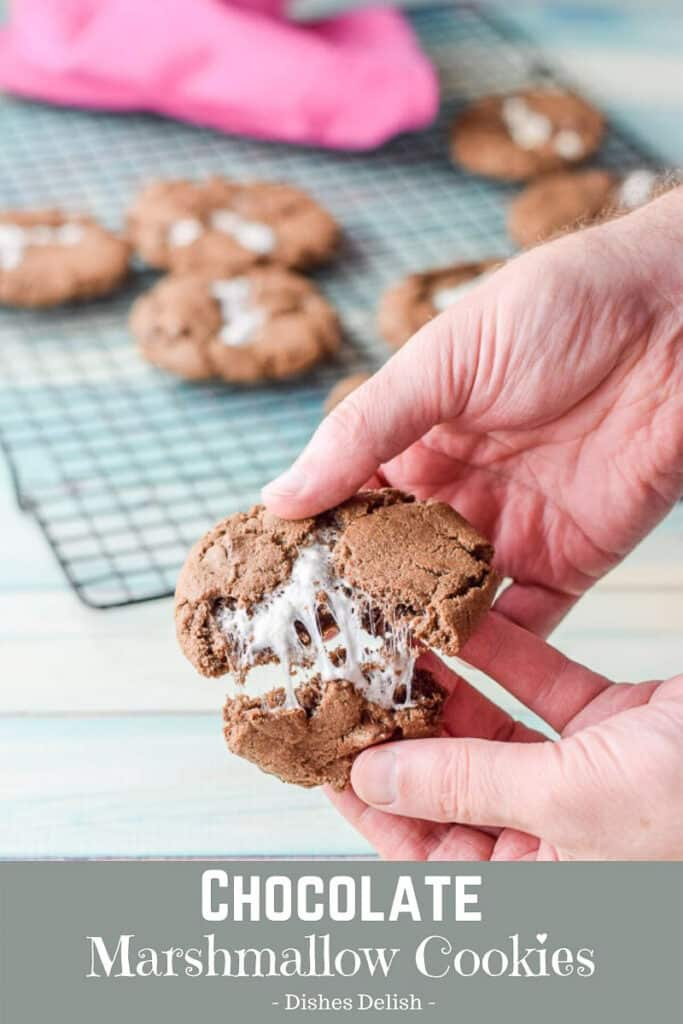 Chocolate Marshmallow Cookies for Pinterest 4