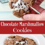 Chocolate Marshmallow Cookies for Pinterest