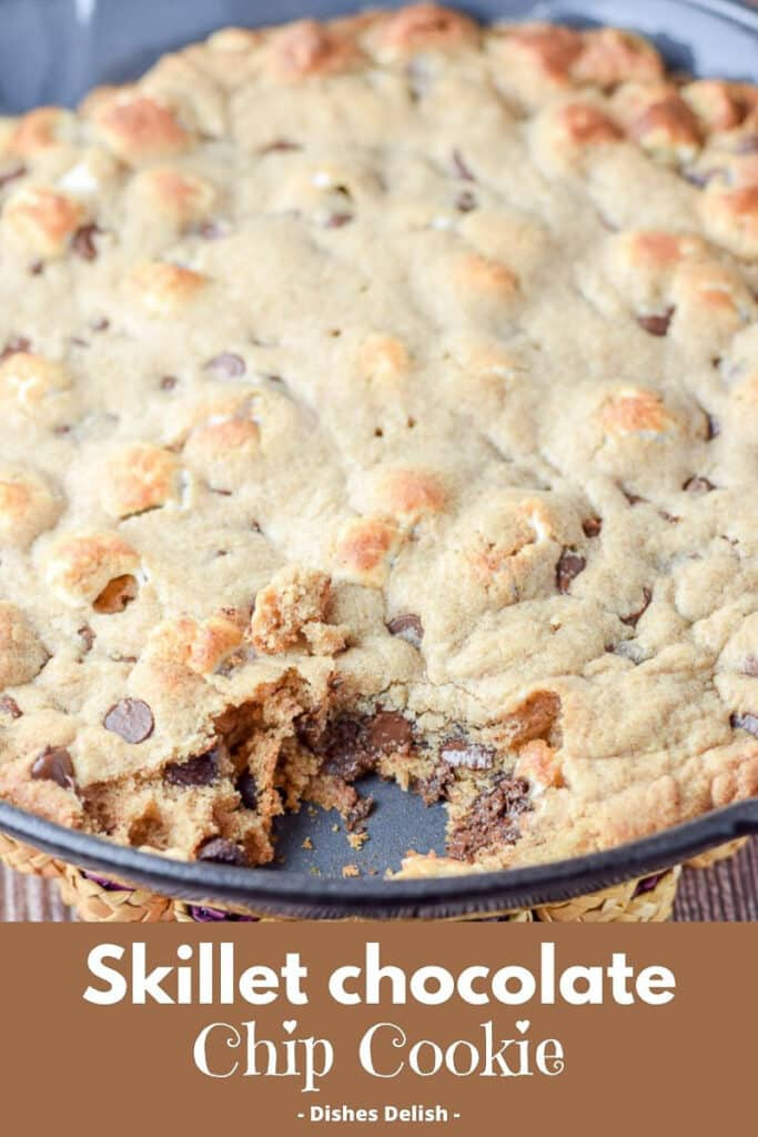 Skillet Chocolate Chip Cookie for Pinterest 2