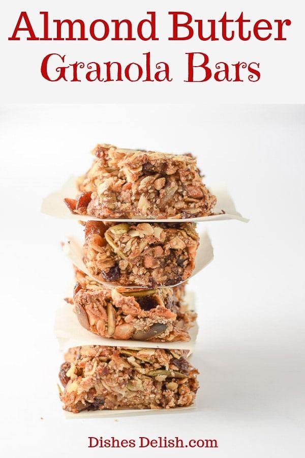 Almond Butter Granola Bars for Pinterest