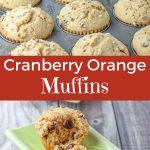 Cranberry Orange Muffins for Pinterest