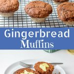 Gingerbread Muffins for Pinterest
