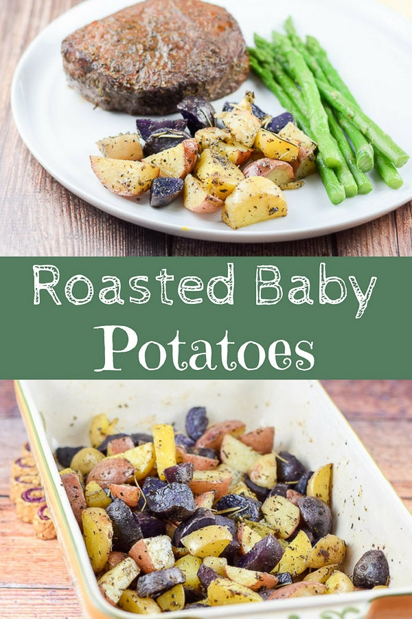 Roasted Baby Potatoes Recipe for Pinterest