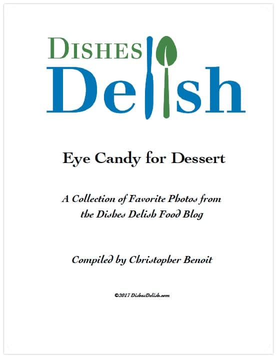 Dishes Delish, eye candy for dessert, free download cover