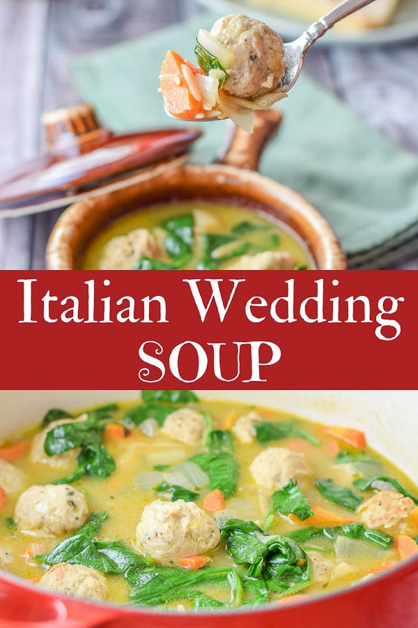 Italian Wedding Soup for Pinterest