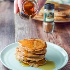 And more syrup on Bena's apple pancakes