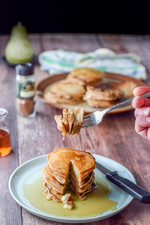 Forkful of Bena's apple pancakes