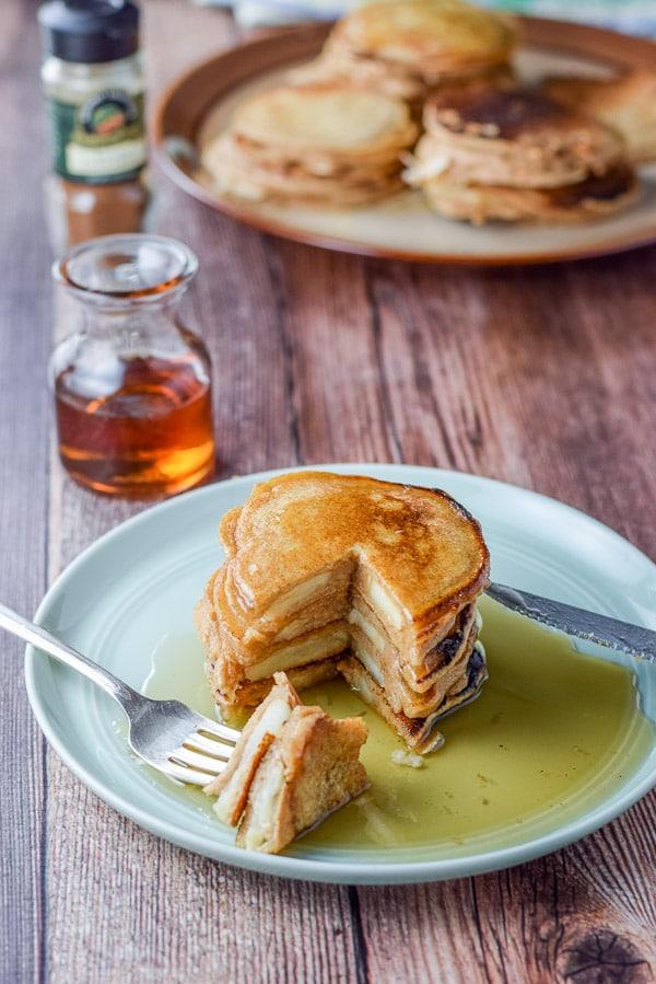 Inside Bena's apple pancakes