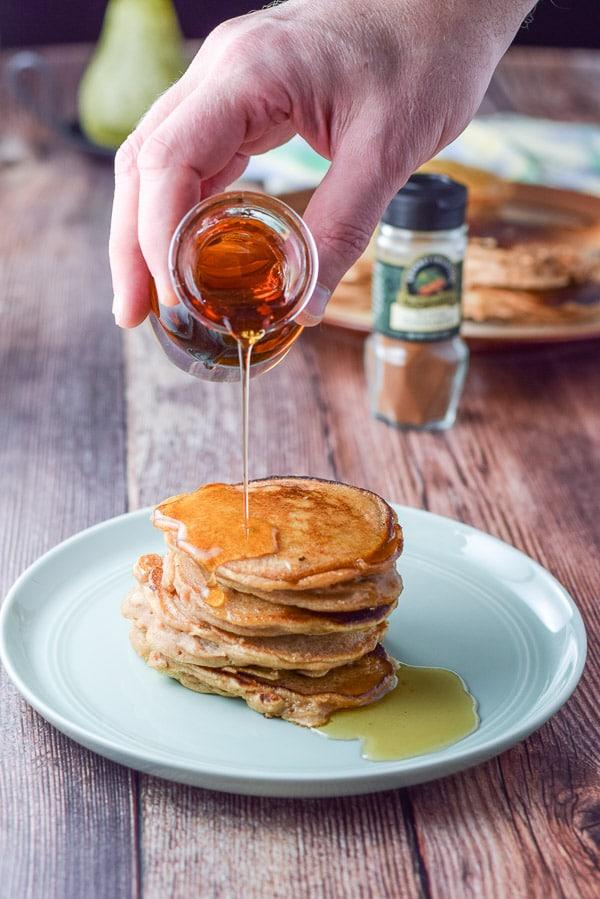 More syrup on Bena's apple pancakes