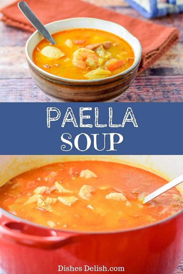 Paella Soup for Pinterest