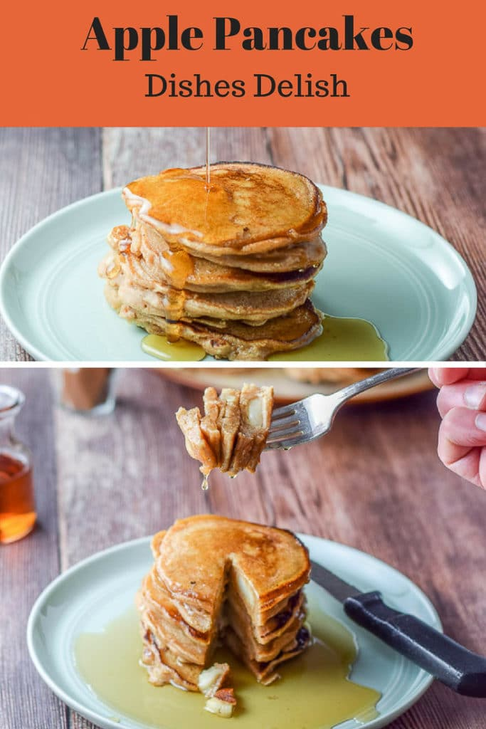 Bena's apple pancakes for Pinterest