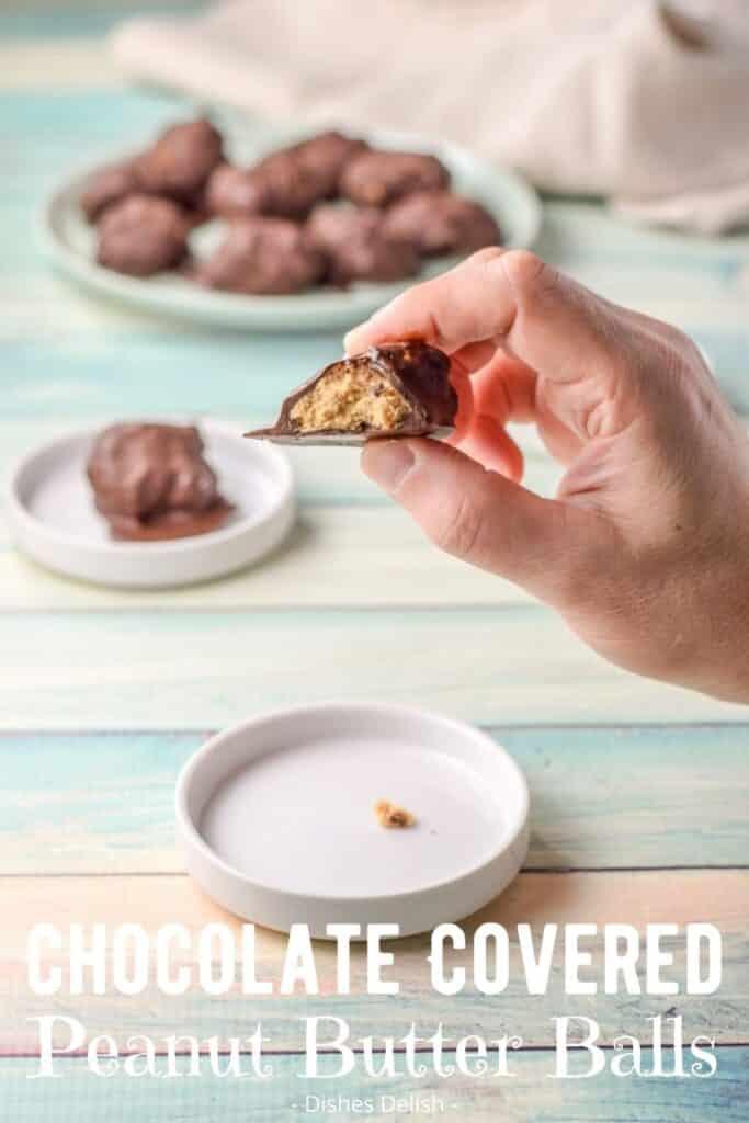 Easy Peanut Butter Balls for Pinterest 3
