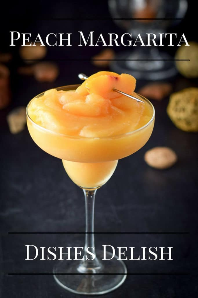 This Peach Margarita is refreshing, pretty and fun to drink by the side of a pool. It's super tasty and easy
