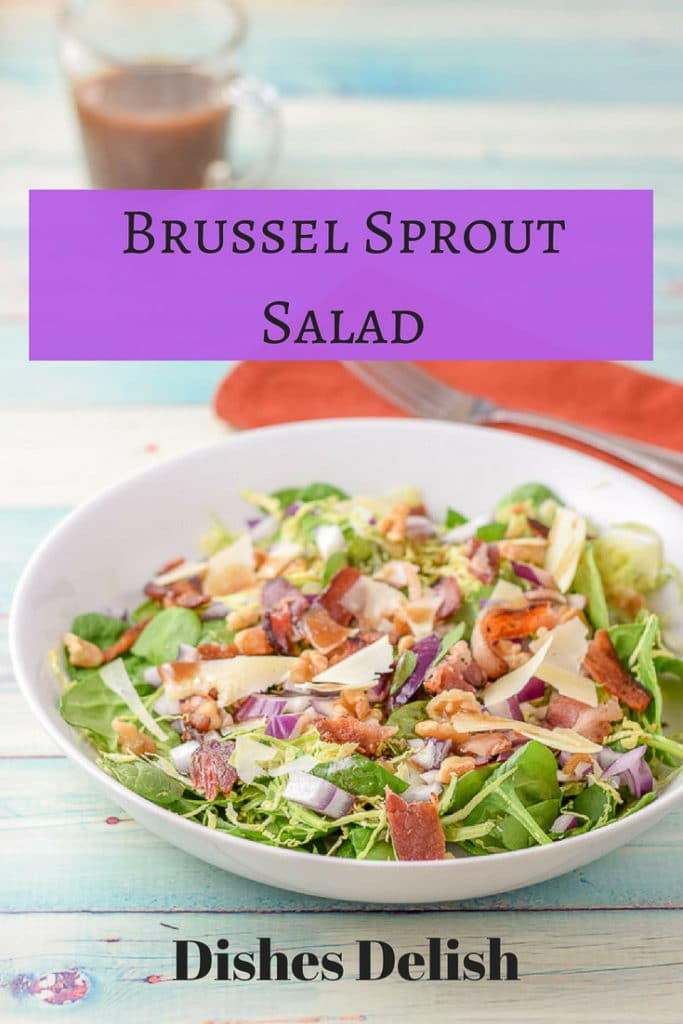 Brussel Sprout Salad for Pinterest