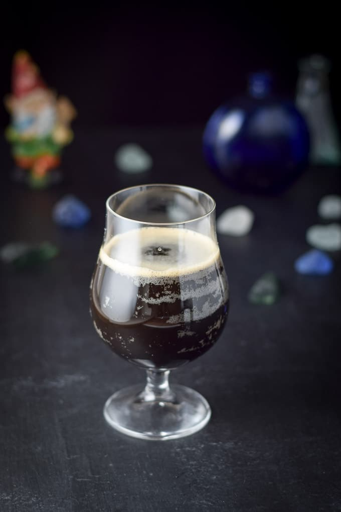 Another view for the caramel macchiato stout cocktail