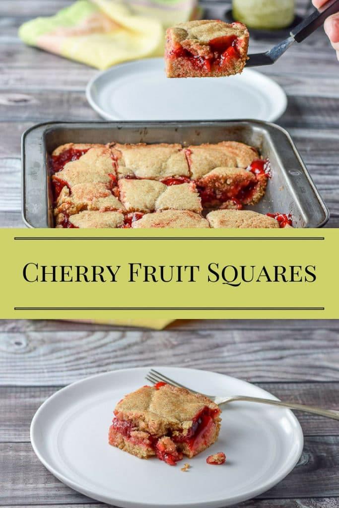 Cherry Fruit Squares for Pinterest