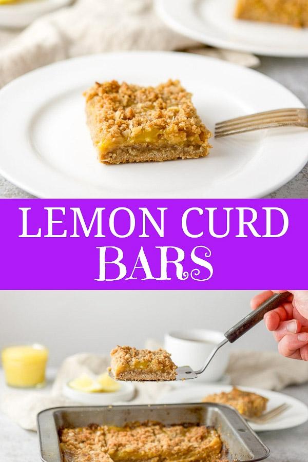 Lemon Curd Bars for Pinterest