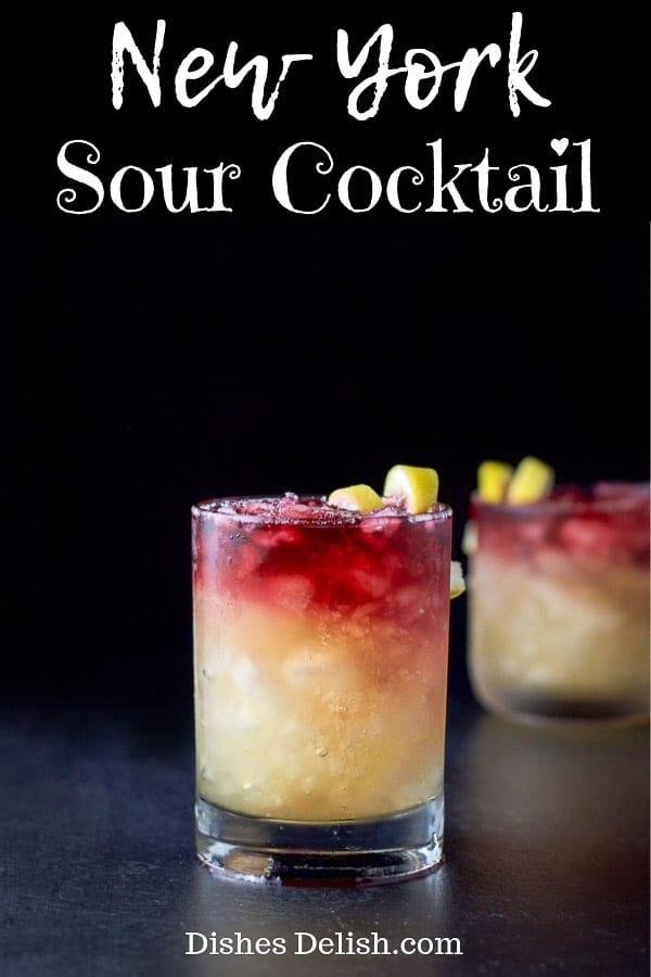 New York Sour Cocktail for Pinterest 2