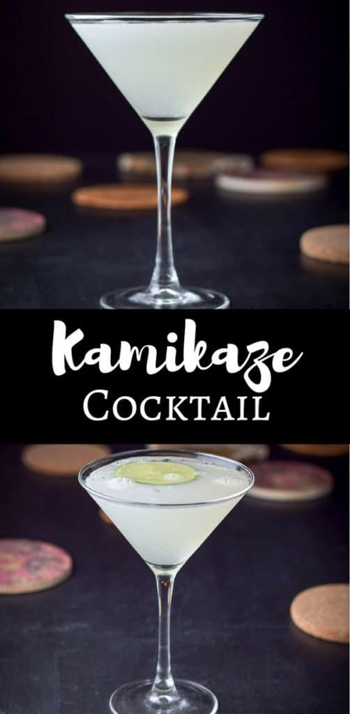 My Sister's Kamikaze Cocktail is yummy. It's a blast from the past cocktail and great to share at a party!