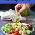 This Smorgasbord shrimp salad is super easy, really pretty and extra delicious. Wow your dinner guests with this fun salad!