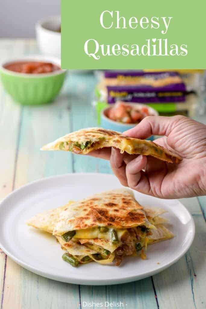 Cheesy Quesadillas for Pinterest 3