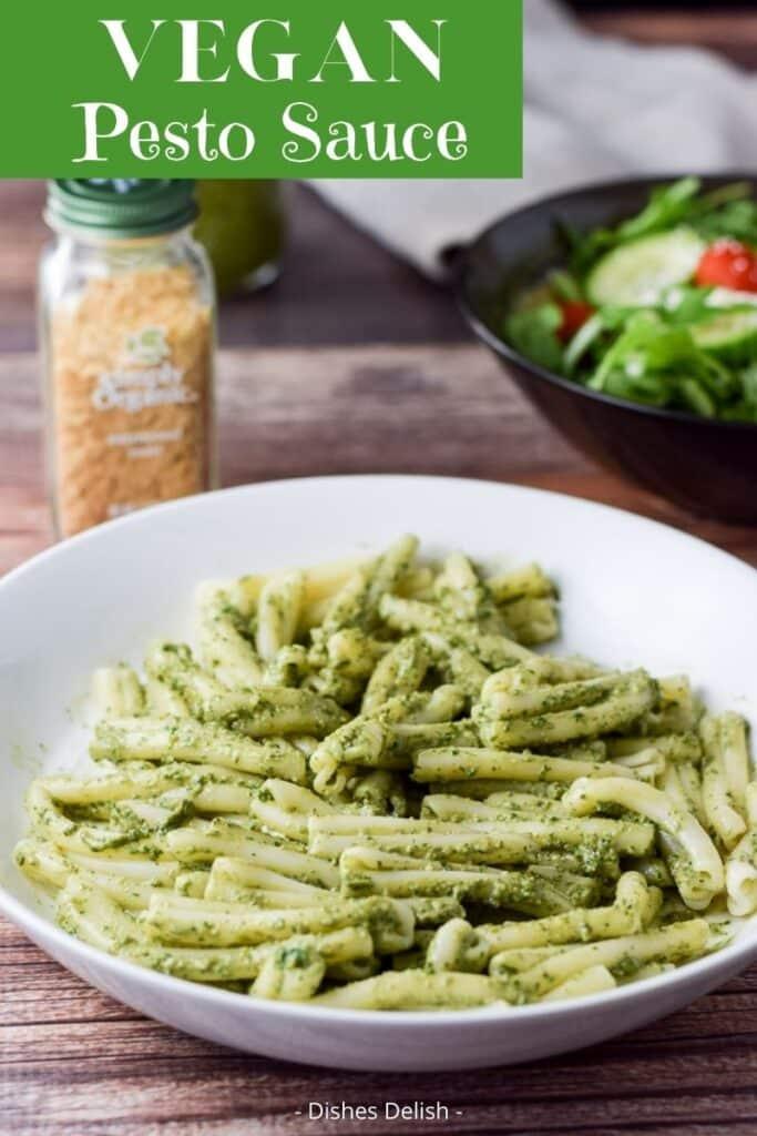 Vegan Pesto Sauce for Pinterest 2