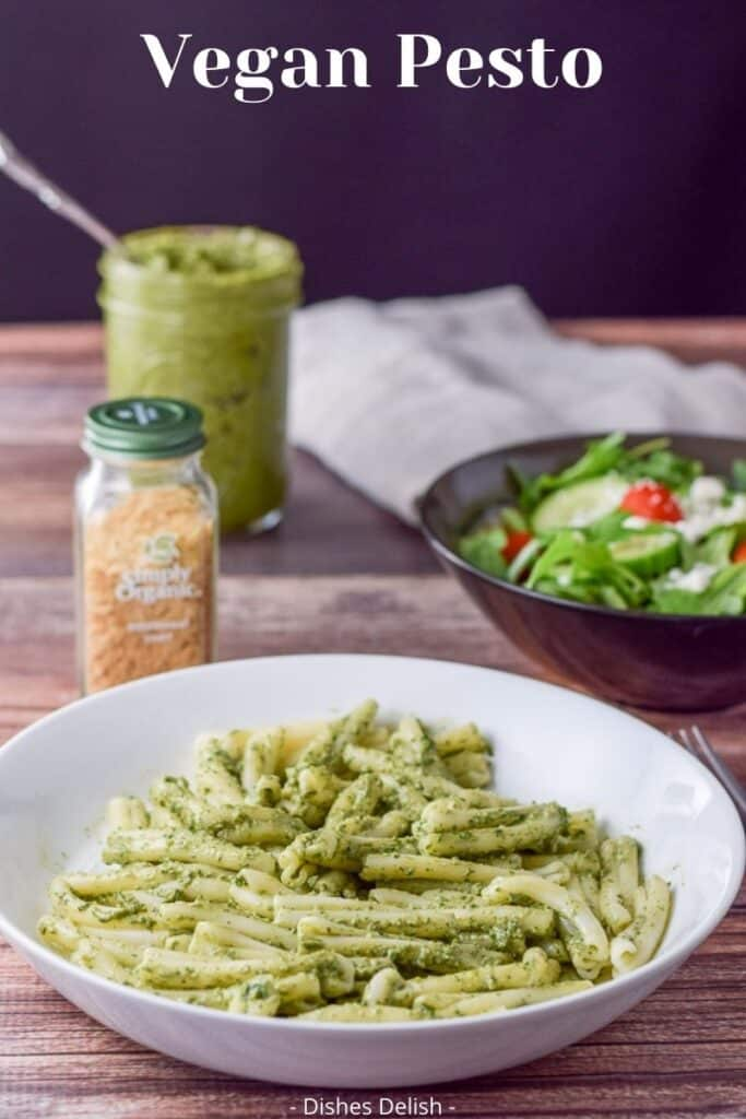Vegan Pesto Sauce for Pinterest 4