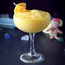 Marvelous mango margarita poured and ready to be enjoyed