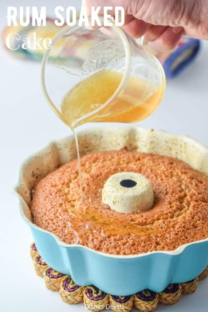 Rum Soaked Cake for Pinterest 3