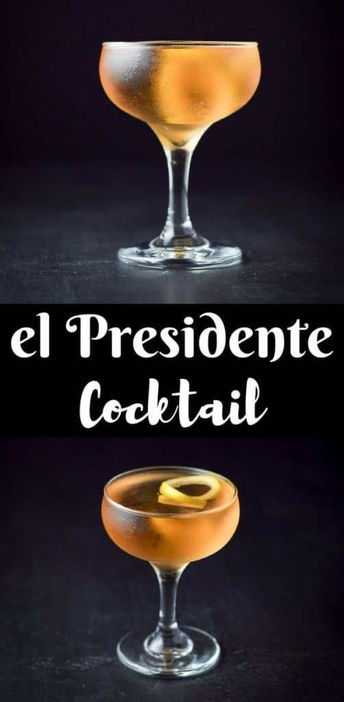 el presidente cocktail for Pinterest 1