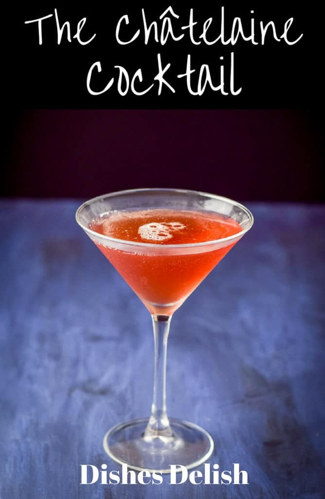 Châtelaine Cocktail for Pinterest
