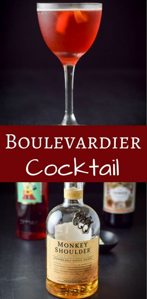 This Boulevardier cocktail is so perfectly balanced that you are going to want to keep sipping it! So delicious and only 3 ingredients!