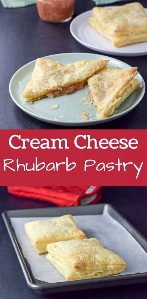 Cream Chees Rhubarb Pastry for Pinterest