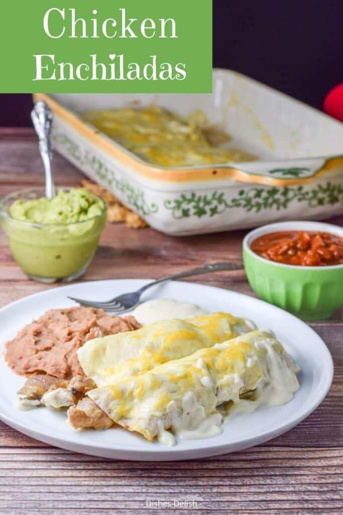Chicken Enchiladas in Sour Cream Sauce for Pinterest 3