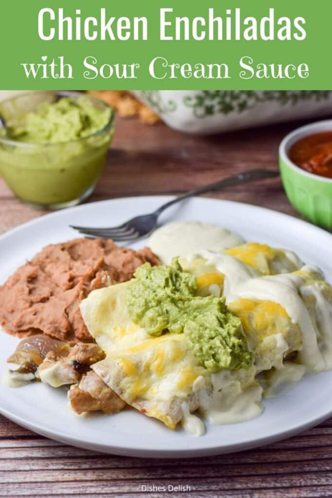 Chicken Enchiladas in Sour Cream Sauce for Pinterest 4