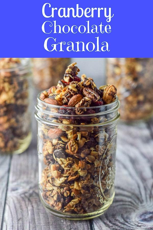 Cranberry Chocolate Granola for Pinterest 1