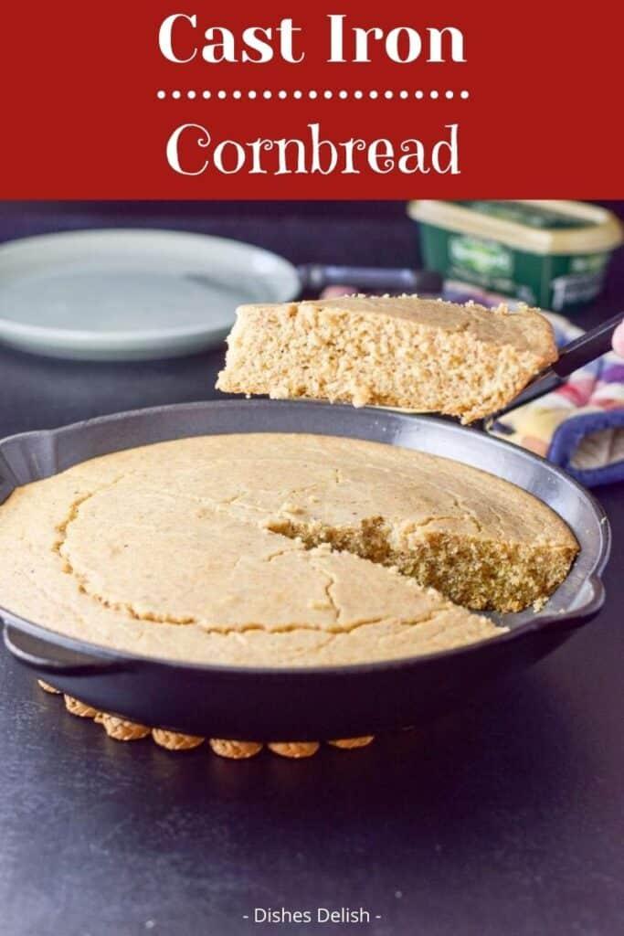 Cast Iron Cornbread for Pinterest 2