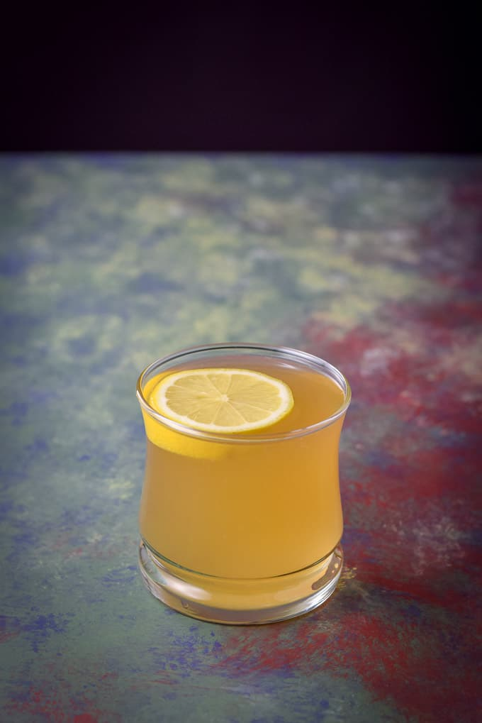 Closer view of the hot toddy which is perfect for cold season