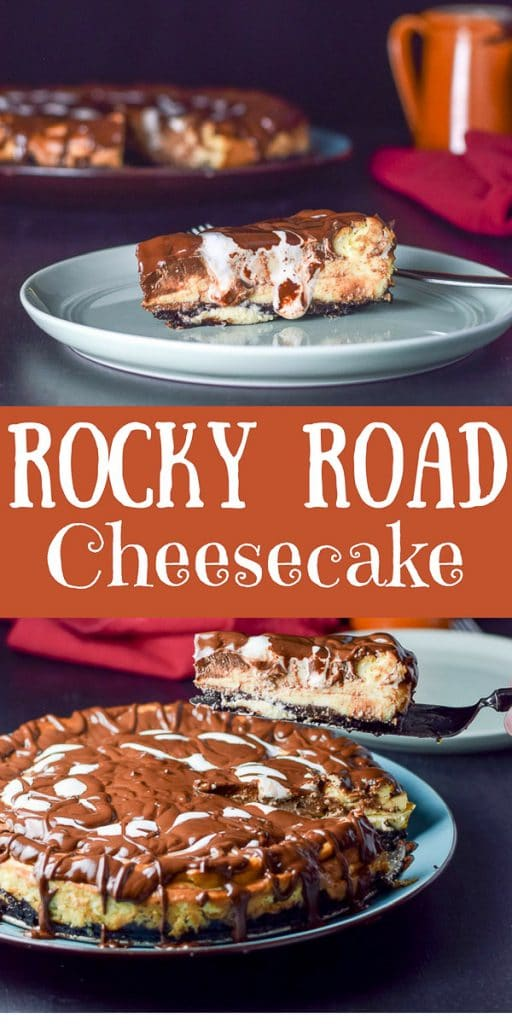 Rocky Road Cheesecake for Pinterest