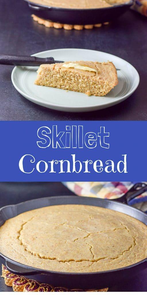 Skillet Cornbread for Pinterest
