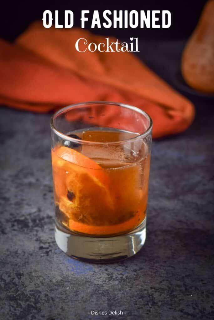 Classic Old Fashioned Cocktail for Pinterest 2