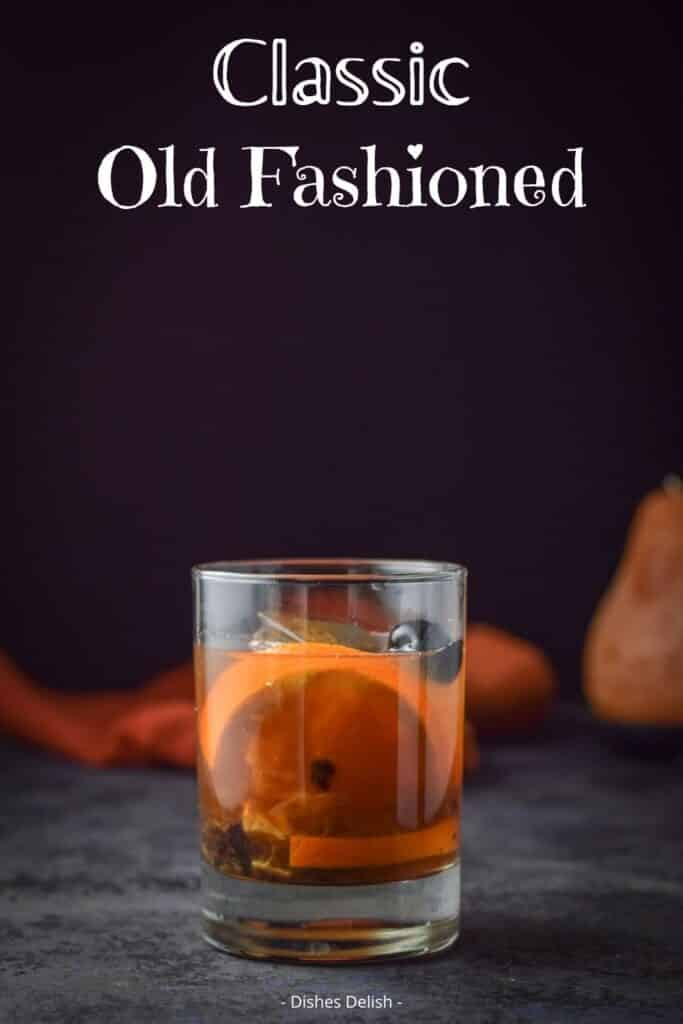 Classic Old Fashioned Cocktail for Pinterest 3