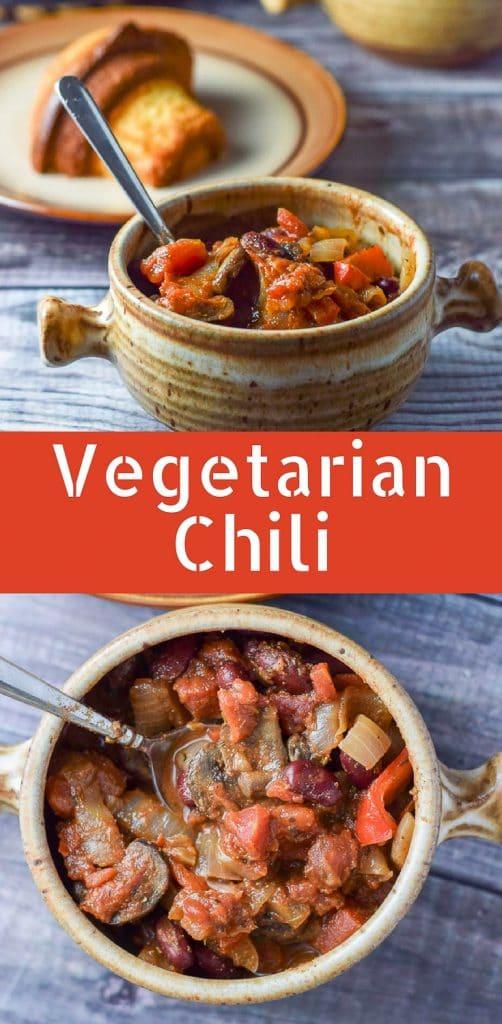 Vegetarian Chili for Pinterest