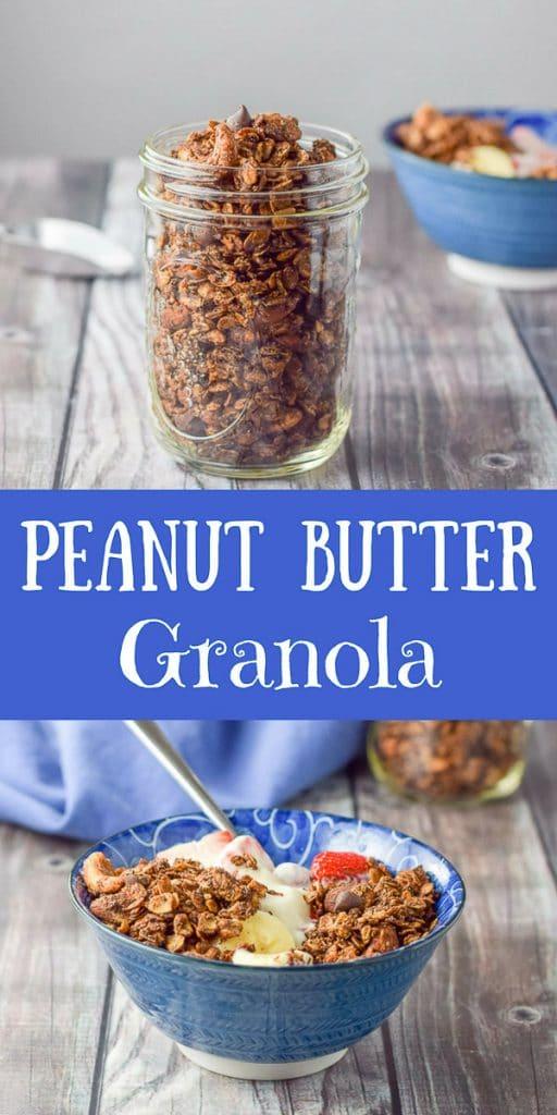 Peanut Butter Granola for Pinterest 1