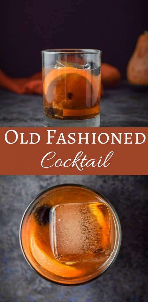 Old Fashioned Cocktail for Pinterest 1