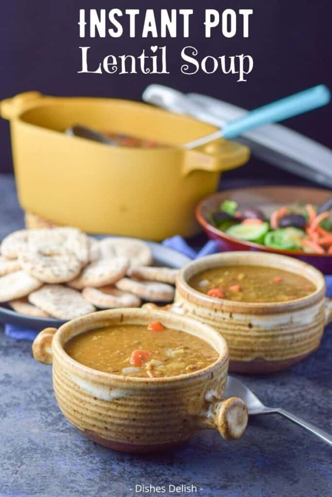 Instant Pot Lentil Soup for Pinterest 3