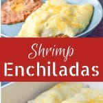 These shrimp enchiladas are a perfect addition to your Cinco de Mayo celebration. Succulent shrimp nestled with veggies in a flour tortilla and smothered with sour cream sauce!