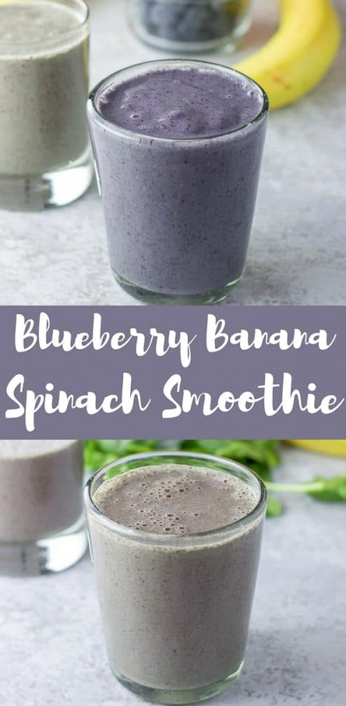 Blueberry Banan Spinach Smoothie for Pinterest 1