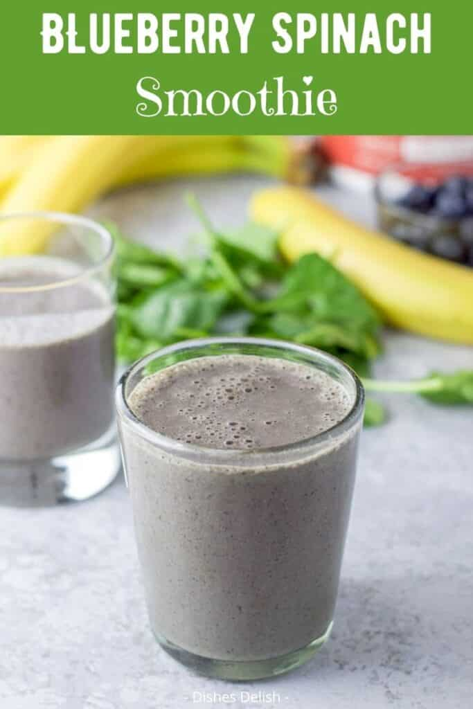 Blueberry Banana Spinach Soothie for Pinterest 3